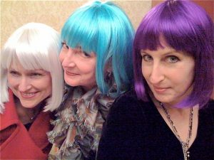 Puckish, me and Maryn, incognito.