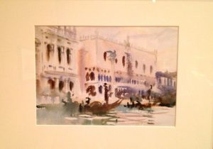Sargent watercolor of the Grand Canal, Venice, at the Brooklyn Museum.