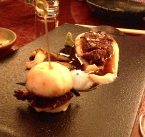 Duck three ways at Miyake.